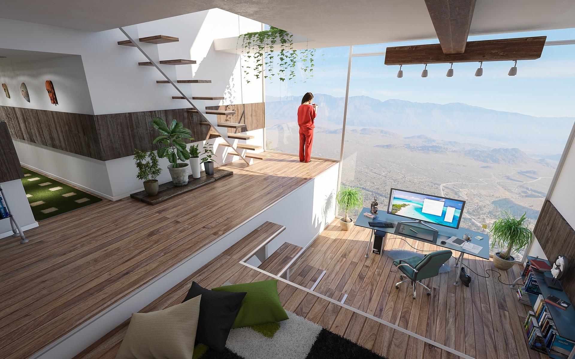 suelo de madera interior